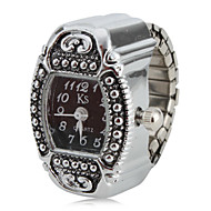 cheap Ring Watches-Women's Ring Watch Japanese Quartz Silver Analog Ladies Charm One Year Battery Life / SSUO SR626SW