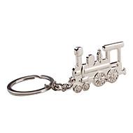 Kov stříbrná vlak klíčenka