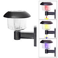 お買い得  LED ソーラーライト-コンテンポラリー プラスチック ウォールライト