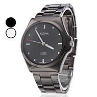 levne -Pánské Náramkové hodinky Křemenný Japonské Quartz Hodinky na běžné nošení Nerez Kapela Černá