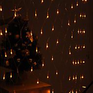 halpa LED-hehkulamput-festivaali koristelu 120-johtoiseen 8 moodin keltainen valo net lamput osapuoli puutarha-aita (220v)