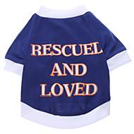 저렴한 -강아지 티셔츠 강아지 의류 문자와 숫자 면 코스츔 제품 모든계절 & 가을 여름 남성용 여성용 캐쥬얼 / 데일리