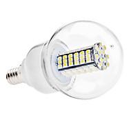 Χαμηλού Κόστους Λαμπτήρες LED σφαίρα-6000 lm E14 LED Λάμπες Σφαίρα G60 120 leds SMD 3528 Φυσικό Λευκό AC 110-130V AC 220-240V