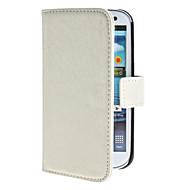 お買い得  Samsung 用 ケース/カバー-ケース 用途 Samsung Galaxy Samsung Galaxy ケース カードホルダー スタンド付き フリップ フルボディーケース 純色 PUレザー のために S3