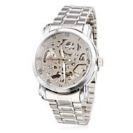 Недорогие Фирменные часы-WINNER Муж. Часы со скелетом / Механические часы С гравировкой Нержавеющая сталь Группа Серебристый металл / С автоподзаводом