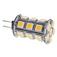 billige LED-kolbepærer-3000 lm G4 LED-kolbepærer T 24 leds SMD 5050 Varm hvid DC 12V