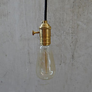 Max 60W Traditional/Classic / Vintage Bulb Included Brass Privjesak Svjetla Bedroom / Dining Room / Hallway