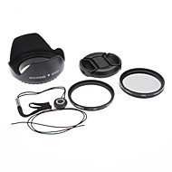 49mm UV CPL filtro de la lente + Cap + Keeper + capilla para Sony Alpha NEX-7 NEX-5N NEX-C3