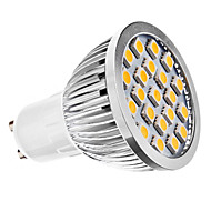 GU10 LED Spotlight MR16 21 leds SMD 5050 Warm White 3500lm 3500KK AC 110-130 AC 220-240V