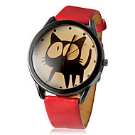 tanie Modne zegarki-Damskie Modny Kwarcowy PU Pasmo Kreskówka Czarny Biały Czerwony