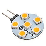 お買い得  SENCART-SENCART 60-80 lm G4 6 LEDの SMD 5050 温白色 AC 12V