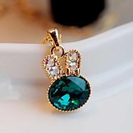 お買い得  -女性用 クリスタル ペンダントネックレス  -  イミテーションダイヤモンド ぜいたく, ファッション, かわいいスタイル ネックレス ジュエリー 用途 パーティー