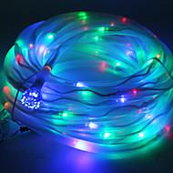 abordables Lámparas LED Novedosas-Multicolor Solar Powered Tube Cuerda 100 LED cadena de luz de la lámpara Garden Party Decor