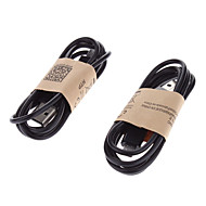2 Pcs 1 Metre Length USB Data Sync Charger Cable for Samsung Galaxy S2 i9100/S3/Note