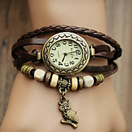 abordables Relojes Bohemios-Mujer Reloj Pulsera Reloj Casual PU Banda Bohemio / Moda Negro / Azul / Rojo / Un año / Jinli 377