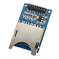 お買い得  Arduino 用アクセサリー-moduld sdカードモジュールの読み取りと書き込みスロットリーダー(arduino用)mcu