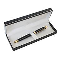 お買い得  オリジナル名入れ商品 文房具-パーソナライズされた父の日の贈り物ブラックメタルブラックインクゲルペン