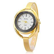 billige Modeure-Dame Quartz Armbåndsur Afslappet Ur Legering Bånd Elegant Sølv Guld