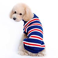 Dog Sweater Dog Clothes Woolen Winter Stripe Dark Blue Costume For Pets