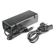xbox 360E adaptador de corrente alternada (os EUA) com fio preto de plástico 1 adaptador, um cabo