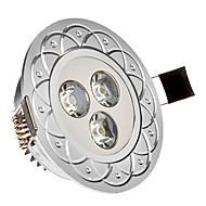 tanie Żarówki LED podtynkowe-Oświetlenie do zabudowy 3 Diody lED High Power LED Zimna biel 285lm 6000-6200K AC 85-265V