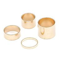 זול -בגדי ריקוד נשים סגסוגת ארופאי אופנתי Fashion Ring תכשיטים כסף / מוזהב עבור יומי 8
