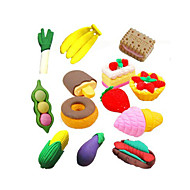 Special Design Fast Food Shaped Eraser Set(4 PCS) For School / Office
