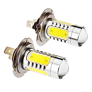 H7 7.5W 5-LED 6000K Cool White Light LED lamp voor in de auto (12-24V, 2 stuks)