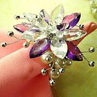 Χώρα Flower Style Ακρυλικές Χάντρες πετσέτα Ring, Dia4.2-4,5 εκατοστά Σετ 12
