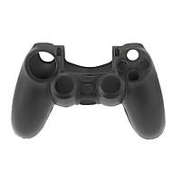 PS4 컨트롤러 (검정)를위한 실리콘 방어적인 소매 상자 피부 덮개