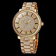 זול -בגדי ריקוד נשים שעון משובץ אבנים שעון זהב קווארץ מתכת אל חלד כסף / זהב חיקוי יהלום אנלוגי מדבקות עם נצנצים אופנתי שעוני שמלה - זהב כסף שנתיים חיי סוללה / Maxell626