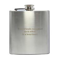 abordables Regalos Personalizados-frasco de metal curva 6 oz regalo del día de padre personalizado