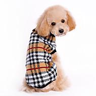 고양이 강아지 스웨터 강아지 의류 클래식 따뜻함 유지 격자무늬/체크 브라운 코스츔 애완 동물