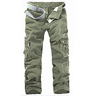 cheap -Men's Military Cotton Loose / Slim / Chinos Pants - Solid Colored Dark Gray / Weekend