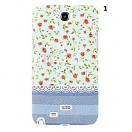 Для Samsung Galaxy Note С узором Кейс для Задняя крышка Кейс для Цветы PC Samsung Note 2