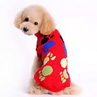 お買い得  -犬用品 - 冬 ウール - セーター - レッド - XS / S / M / L / XL