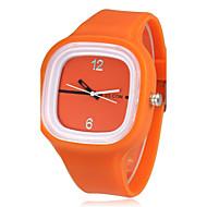 Недорогие Женские часы-Жен. Повседневные часы Кварцевый Повседневные часы силиконовый Группа Elegant Синий Оранжевый Зеленый Розовый Желтый