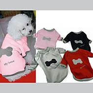 お買い得  10%OFF以上-犬 スウェットシャツ 犬用ウェア カジュアル/普段着 ボーン ブラック グレー レッド ピンク コスチューム ペット用