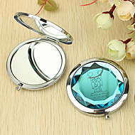 abordables Novedades Personalizadas-Personalizada del regalo del corazón y el patrón amante Chrome Espejo compacto