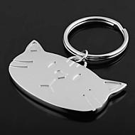 abordables Llaveros-Productos Personalizados-Llavero personalizado Grabado Regalo Head Cat Shaped