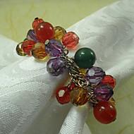 Πολλαπλών Χρώματα Ακρυλικό χάντρες Γάμος χαρτοπετσέτας δαχτυλίδι Σετ 12, Dia 4,5 εκατοστά
