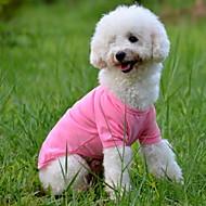강아지 티셔츠 강아지 의류 솔리드 옐로우 레드 그린 블루 핑크 코스츔 애완 동물