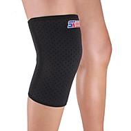 preiswerte -Kniebandage Sport unterstützen Schützend Videokompression Dehnbar Fitness Schwarz