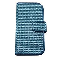 Для Кейс для  Samsung Galaxy Кошелек / Бумажник для карт / Стразы / Флип / Магнитный Кейс для Чехол Кейс для Один цвет Искусственная кожа