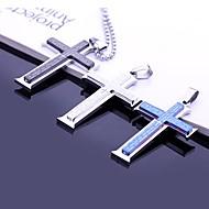 Regalos personalizados-Collares- paraDe Hombres-Acero inoxidable-Plata / Azul / Negro-