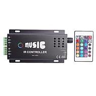 abordables Controladores RGB-Ánodo común IR Dos Strip 24key RGB Music Controller tira llevada RGB con mando a distancia (DC12-24V)