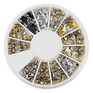 12-Style Alloy Rivet nagel konst Decoration