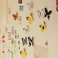 お買い得  ホーム&オフィスガジェット-3d DIY壁atickers鮮やかな蝶の冷蔵庫の磁石ホームアパートメントの装飾