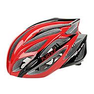 저렴한 -FJQXZ 일체형으로 성형 된 EPS는 + PC 빨간색 자전거 헬멧 (21 통풍구)