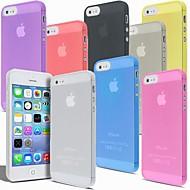 abordables Offres Spéciales Cadeaux-Coque Pour iPhone 5 / Apple Coque iPhone 5 Ultrafine / Dépoli / Translucide Coque Couleur Pleine Dur PC pour iPhone SE / 5s / iPhone 5